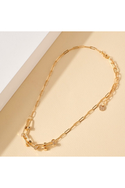 avenue zoe  Paperclip Chain Necklace with Chunky Links - Product Mini Image