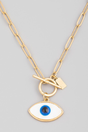 FAME ACCESORIES Paperclip Evil Eye - Product Mini Image