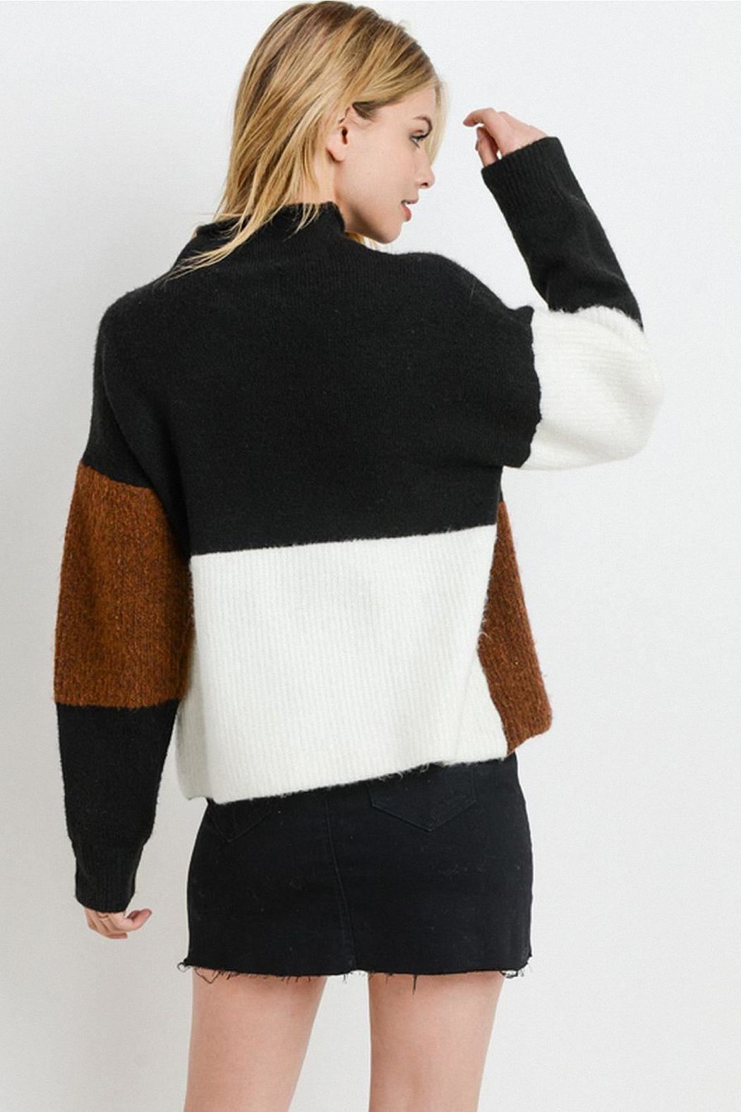 Papercrane Color Block Sweater - Side Cropped Image