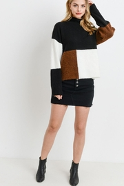 Papercrane Color Block Sweater - Back cropped