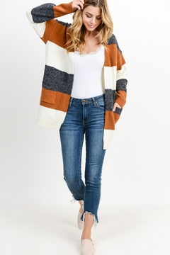 Papercrane Cozy Striped Cardigan - Product List Image
