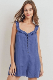 Papercrane Ruffle Denim Romper - Product Mini Image