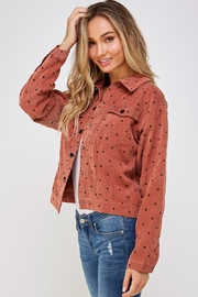 Papercrane Star Print Bomber - Side cropped