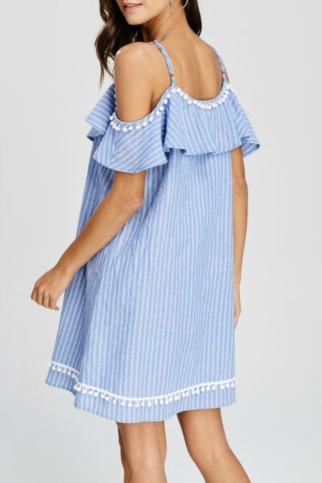 Papermoon Betsy Pompom Dress - Front Full Image