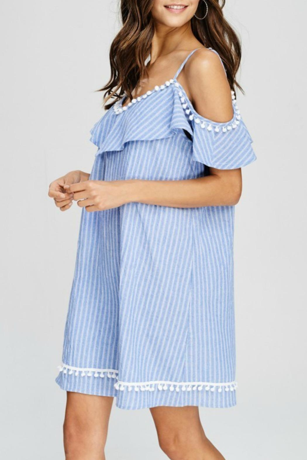 Papermoon Betsy Pompom Dress - Side Cropped Image