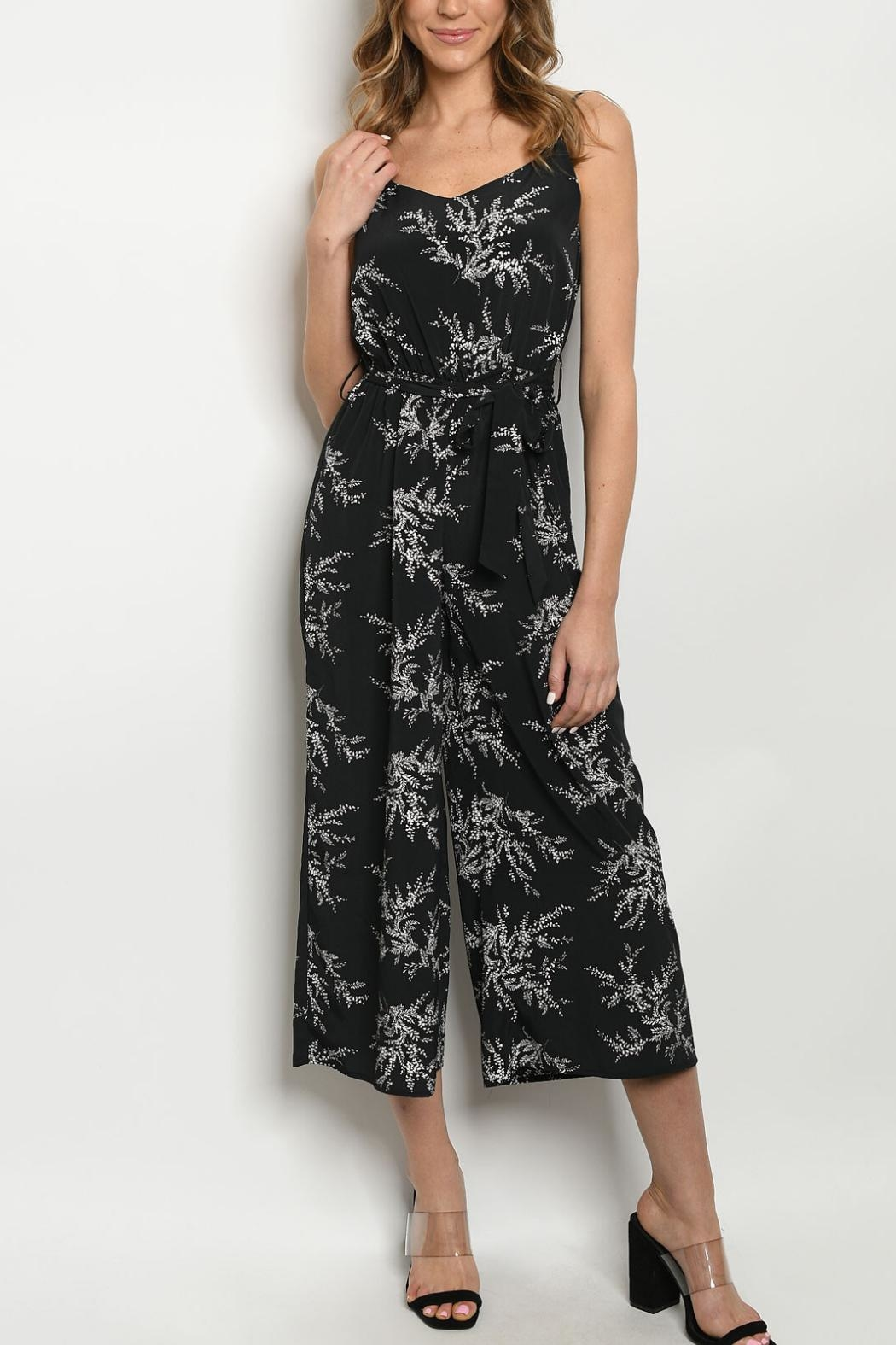 Papermoon Black Cropped Jumpsuit - Main Image