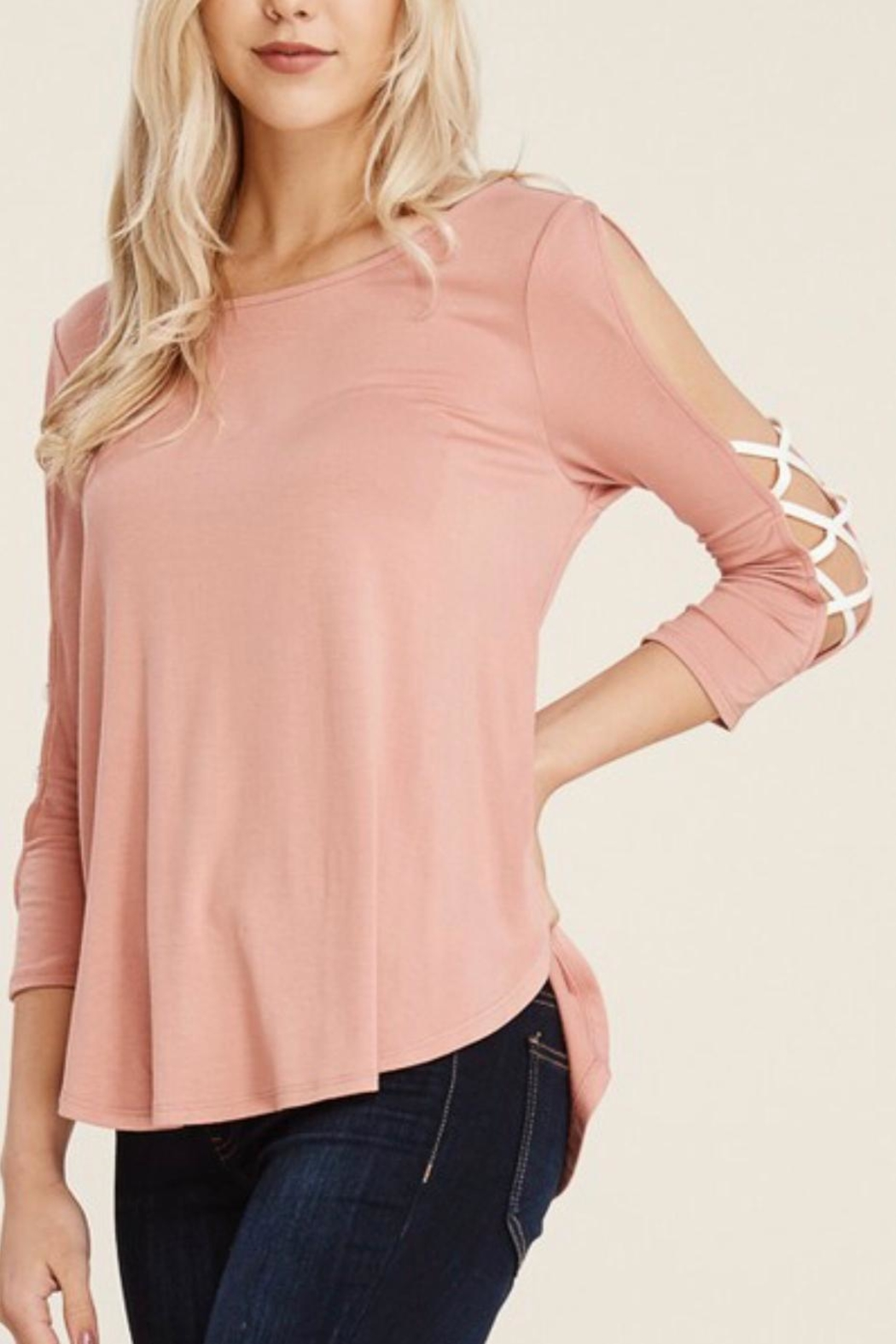 Papermoon Criss-Cross Sleeve Top - Front Full Image