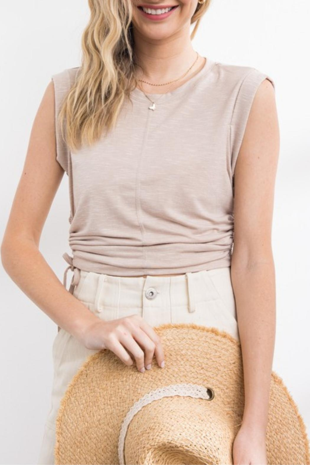 Papermoon Dakota Ruched Top - Front Cropped Image
