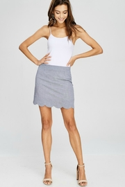 Papermoon Gingham Scalloped Skirt - Back cropped