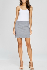 Papermoon Gingham Scalloped Skirt - Front cropped
