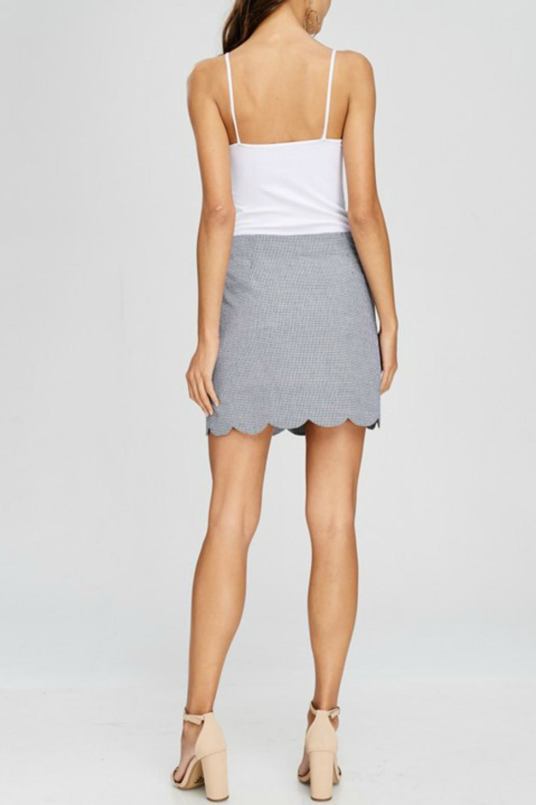 Papermoon Gingham Scalloped Skirt - Side Cropped Image