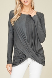 Papermoon Grey Swoop Top - Product Mini Image