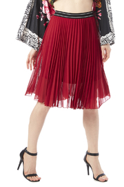 Papermoon Red Pleated Skirt - Product Mini Image