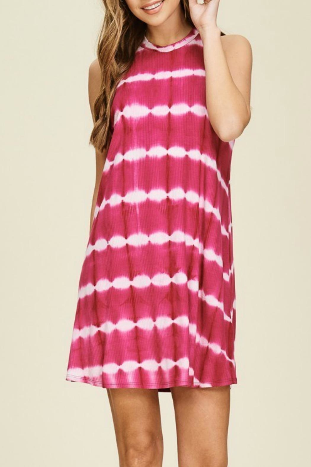 Papermoon Remi Fuchsia Dress - Front Cropped Image
