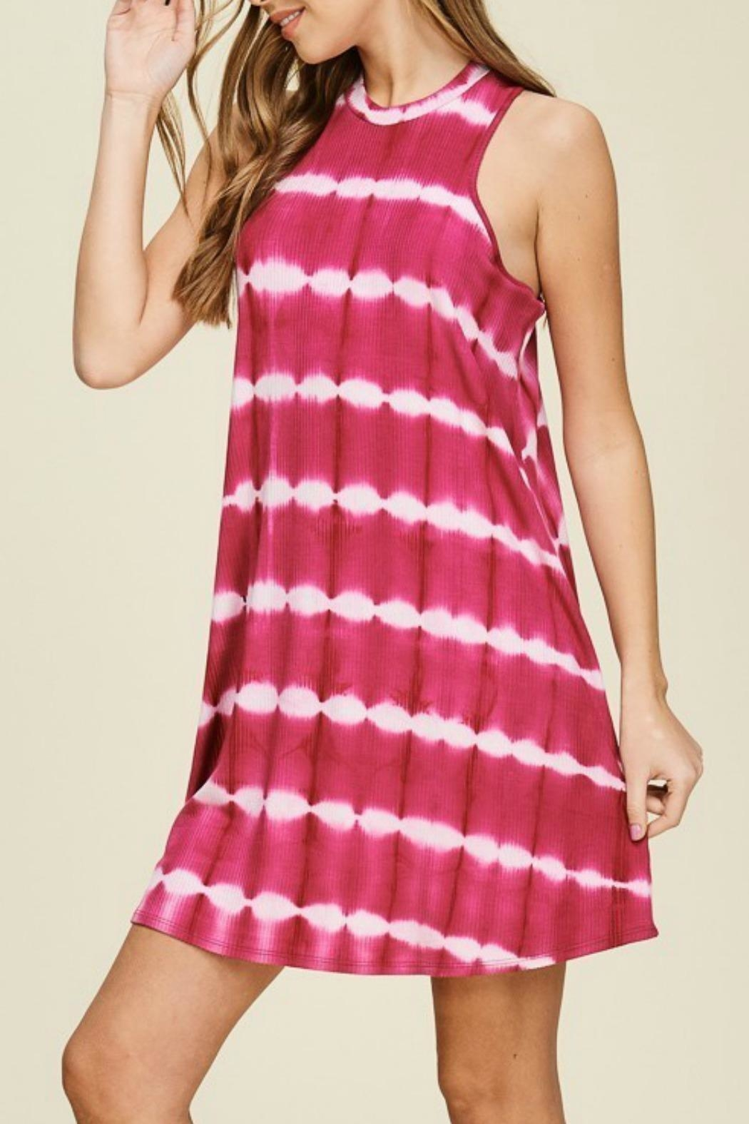Papermoon Remi Fuchsia Dress - Side Cropped Image