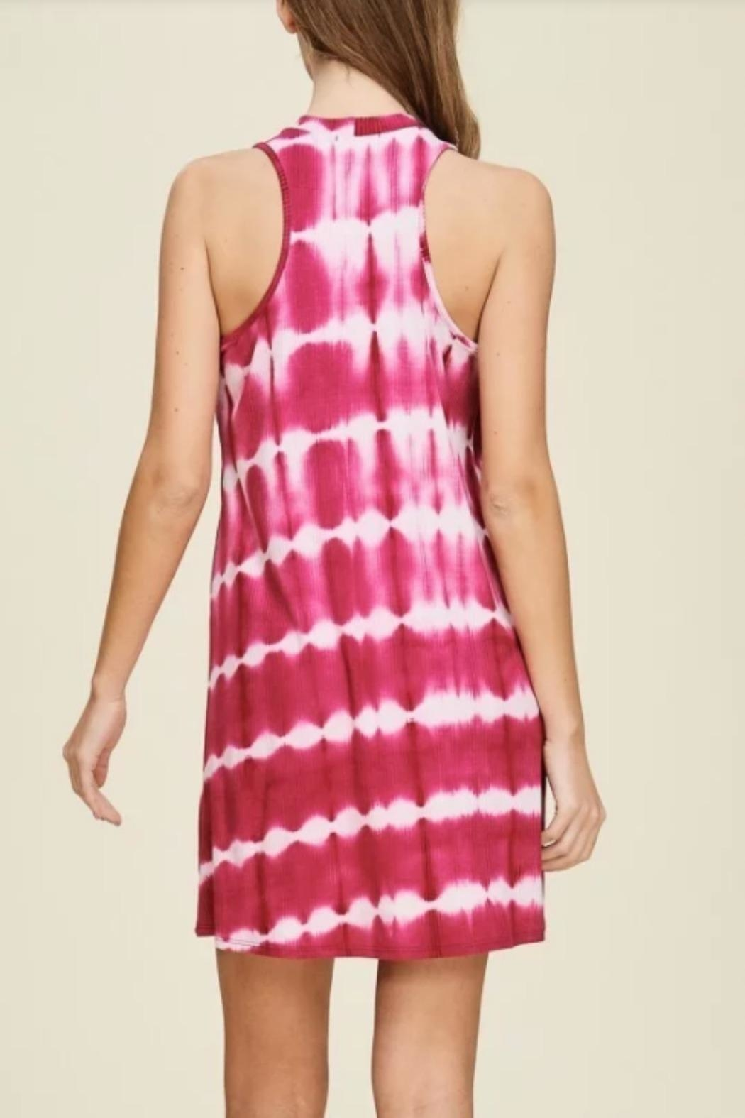 Papermoon Remi Fuchsia Dress - Front Full Image