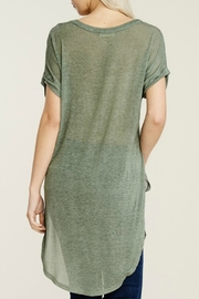 Papermoon Roll Sleeve Knit Dress - Back cropped