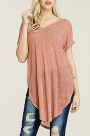 Papermoon Roll Sleeve Knit Dress - Front cropped