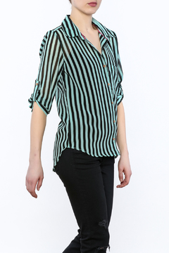 Papermoon Mint Button-Down Top - Product List Image