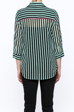 Papermoon Mint Button-Down Top - Alternate List Image