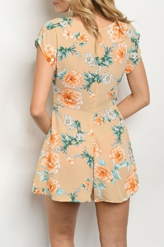 Papermoon Taupe Floral Romper - Alternate List Image