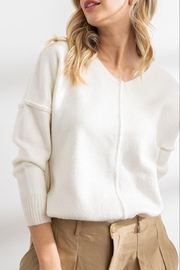 Papermoon Clothing Celine Soft Seam Sweater In Ivory - Product Mini Image