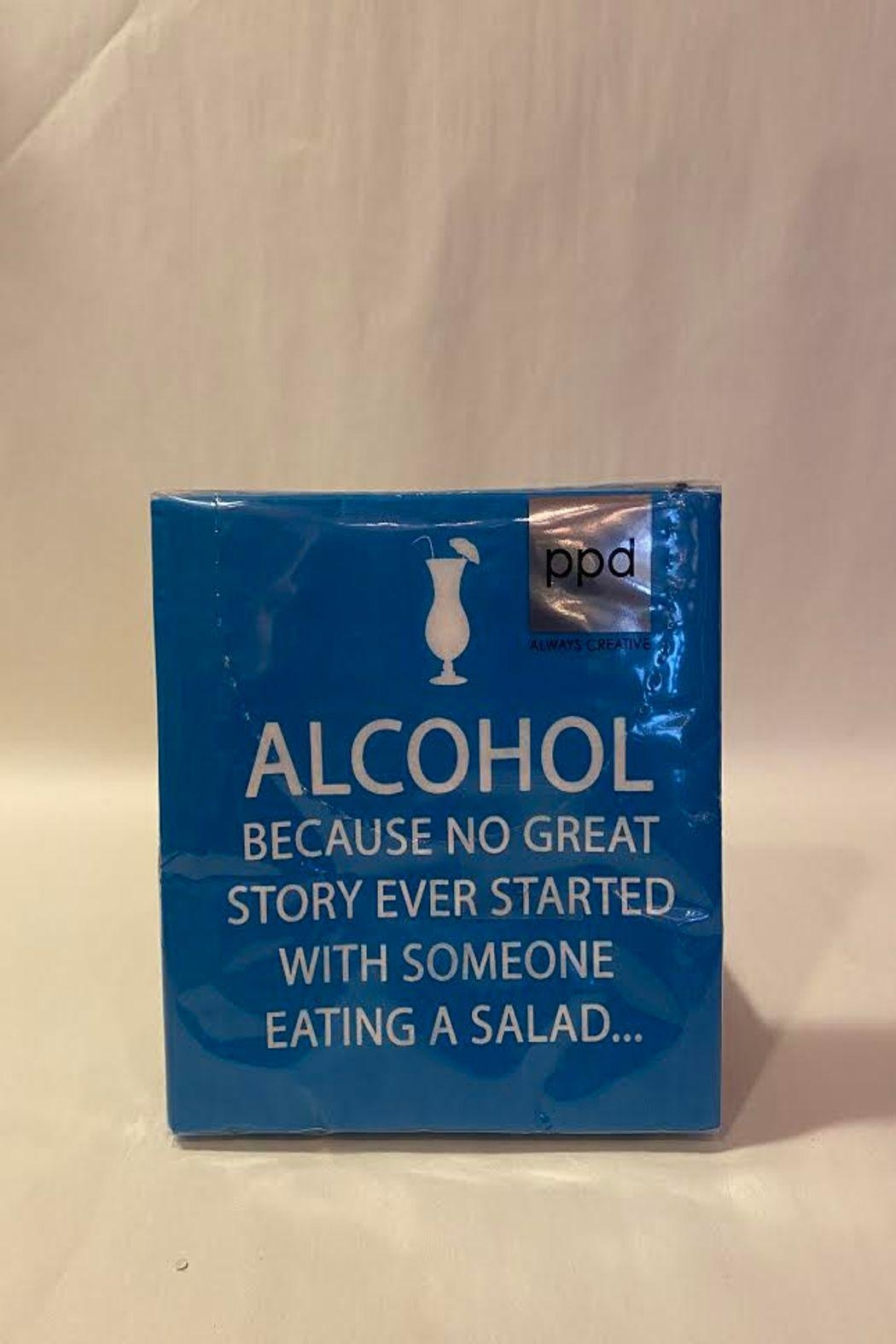 Paperproducts Design Alcohol Joke Napkin - Front Cropped Image