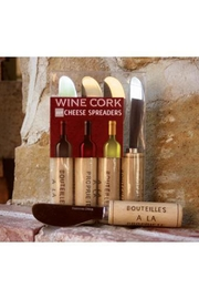 Paperproducts Design Wine Cork Cheese Spreader Set - Front cropped