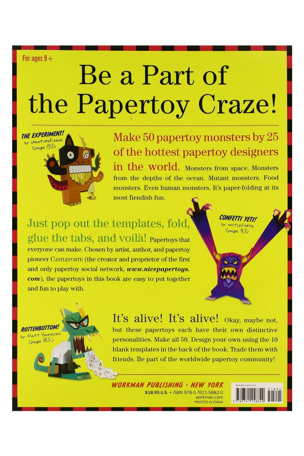 Workman Publishing Papertoy Monsters - Front Full Image