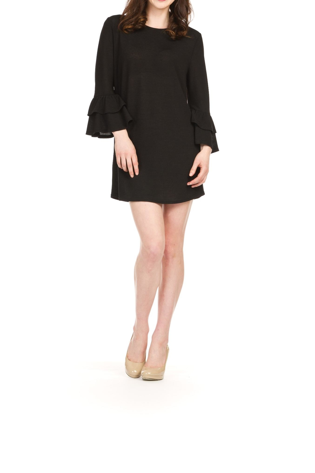 Papillon Bell Sleeve Dress - Front Cropped Image