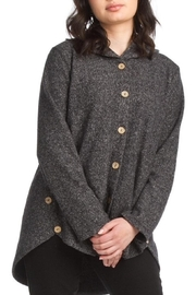 Papillon Button Up Hoodie With Pockets - Product Mini Image