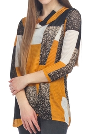 Papillon Cross Over Color Block Top - Product Mini Image