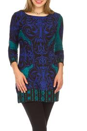 Papillon Damask Pattern Tunic - Product Mini Image