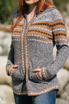 Papillon Fairisle Knit Hooded Jacket - Product List Image