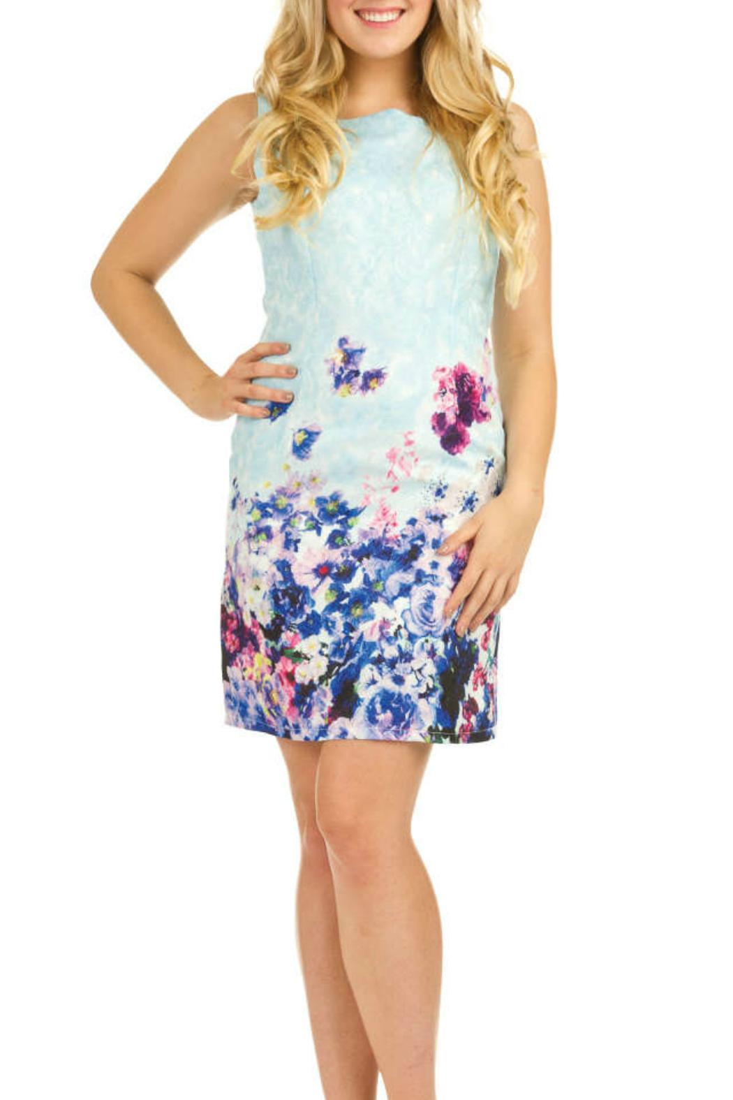Papillon Fitted Floral Dress - Main Image