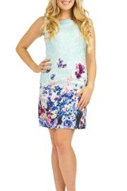 Papillon Fitted Floral Dress - Front cropped