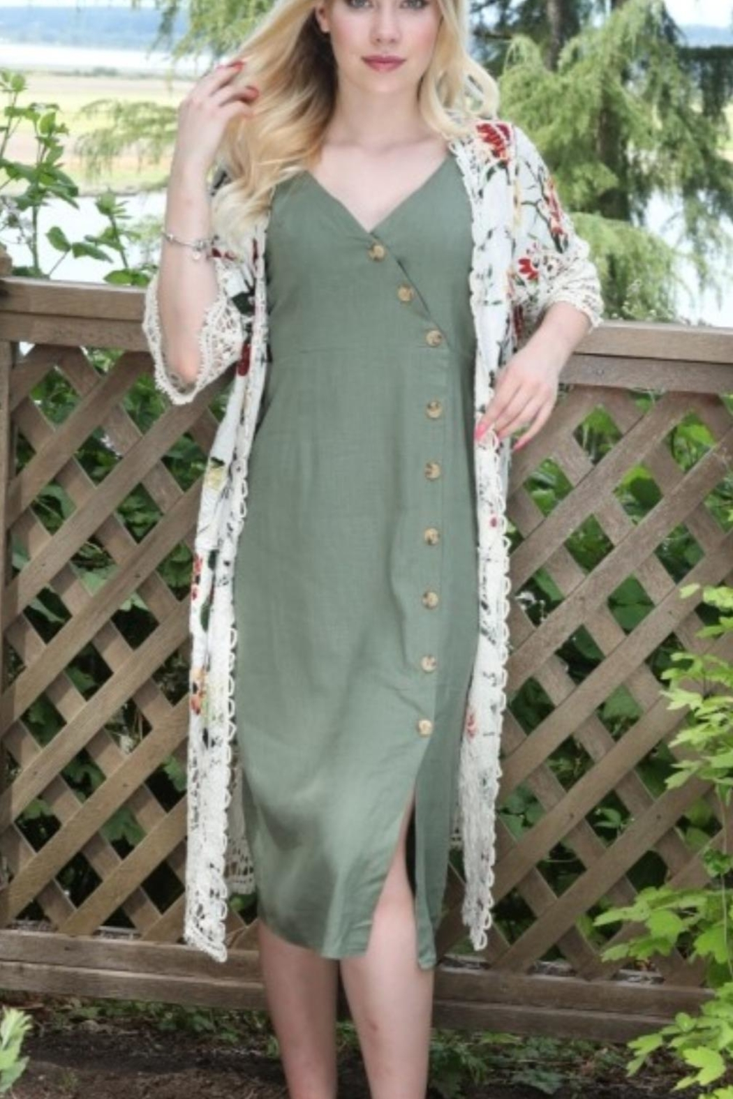Papillon Floral And Lace Duster - Main Image