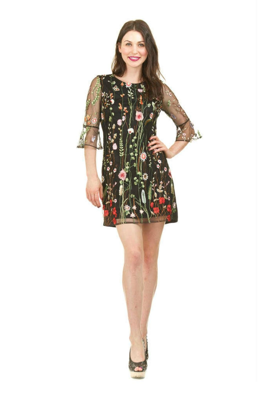 Papillon Floral Embroidered Dress - Main Image