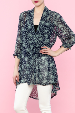 Shoptiques Product: Floral Long Sleeve Tunic