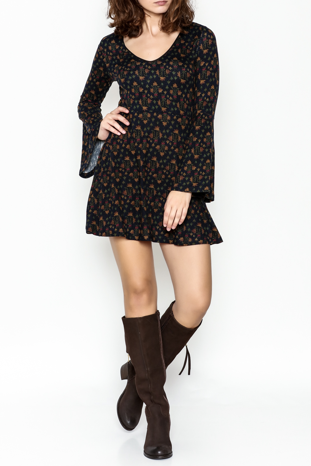 Papillon Floral Swing Dress - Side Cropped Image