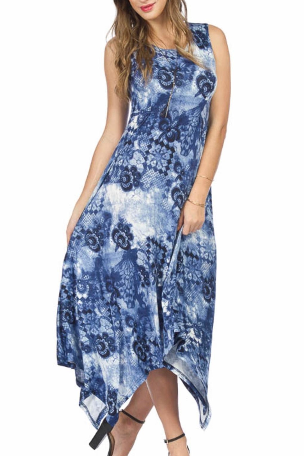 Papillon Fun Maxi Dress - Front Cropped Image