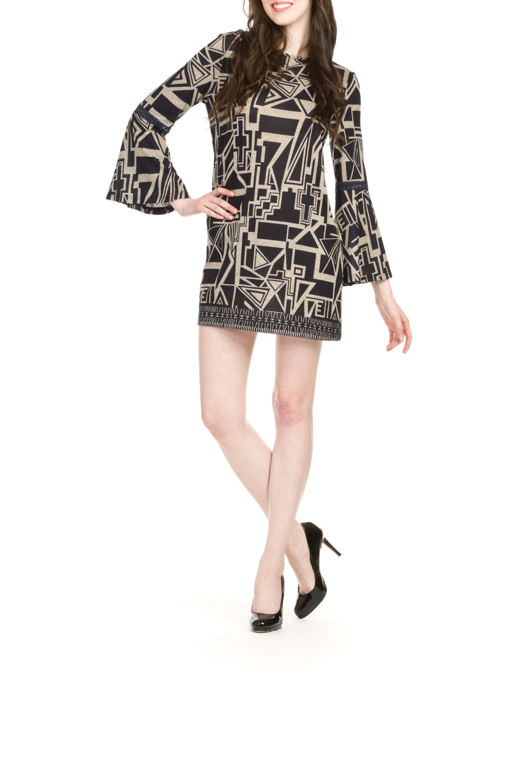 Papillon Geo Print Dress - Front Cropped Image