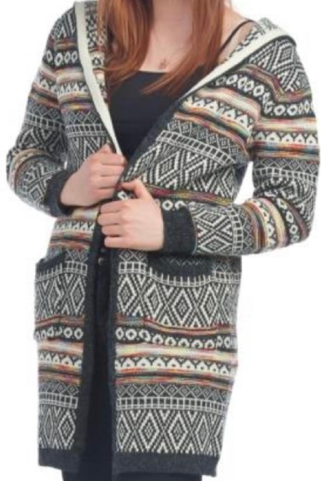 Papillon Hooded Open Cardigan - Main Image
