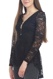 Papillon Lace Peplum Top - Product Mini Image
