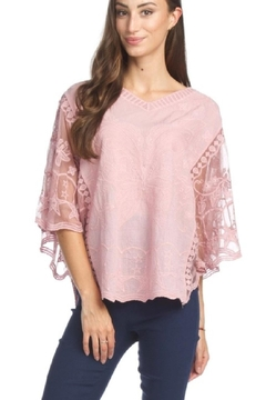 Papillon Lacey Butterfly Top , White Or Pink - Alternate List Image