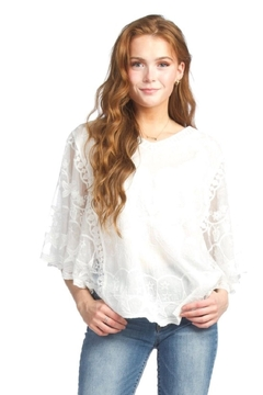 Shoptiques Product: Lacey Butterfly Top , White Or Pink
