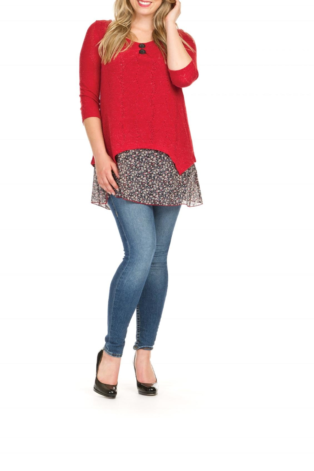 Papillon Leslie Tunic Top - Front Cropped Image