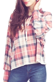 Papillon Lightweight Plaid Hoodie - Product Mini Image