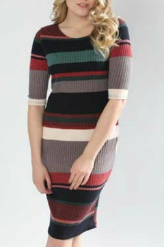Papillon Multi-Stripe Sweater Dress - Alternate List Image