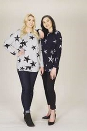 Papillon Navy Star Sweater - Product Mini Image